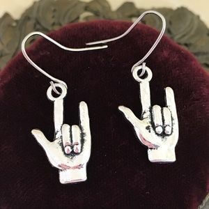 Handmade Jewelry - 3 for $25:  I Love You Sign Language Earrings
